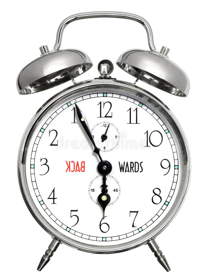 alarmet clock tillbaka royaltyfri bild