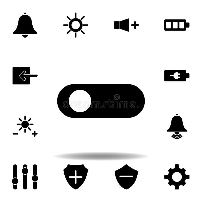 Alarmglockemitteilungsikone Zeichen und Symbole k?nnen f?r Netz, Logo, mobiler App, UI, UX verwendet werden lizenzfreie abbildung