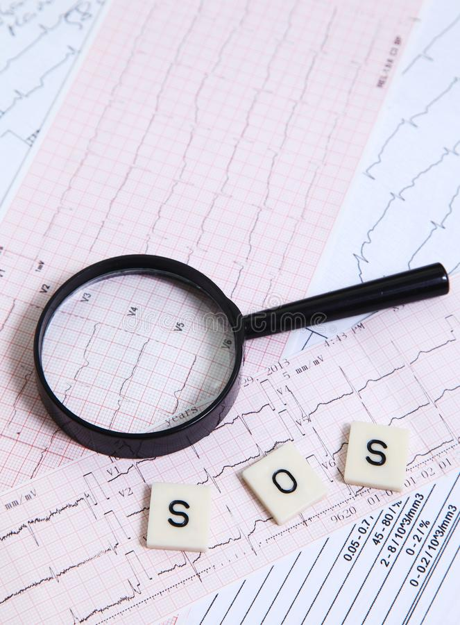 Download Alarming EKG For Heart Disease Stock Photo - Image of care, diagnose: 33050008