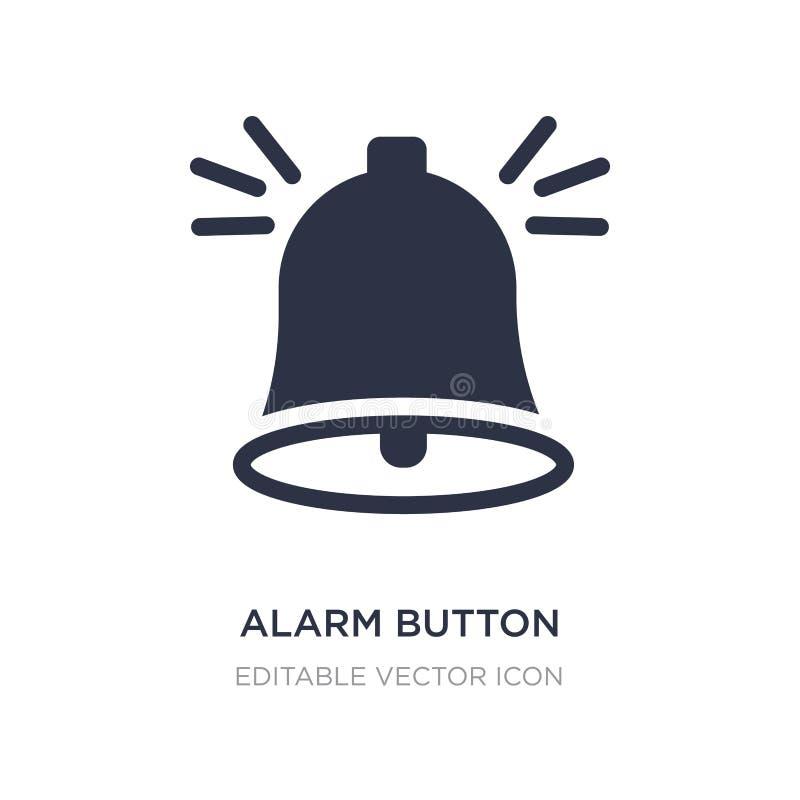 alarmowa guzik ikona na białym tle Prosta element ilustracja od UI pojęcia ilustracji