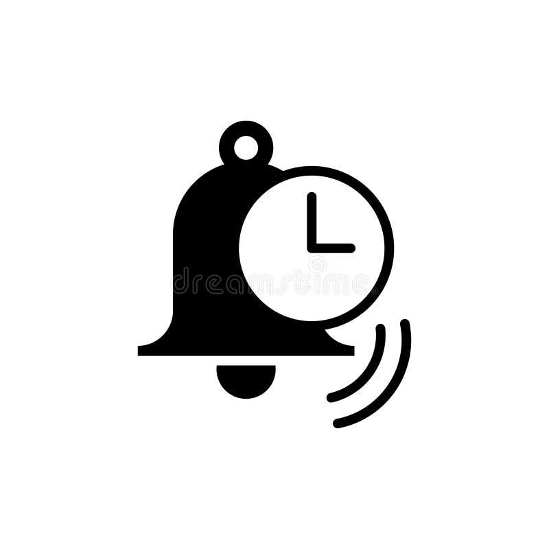 Alarmowa wektorowa ikona Ilustracja odizolowywająca dla grafiki i sieci des ilustracji