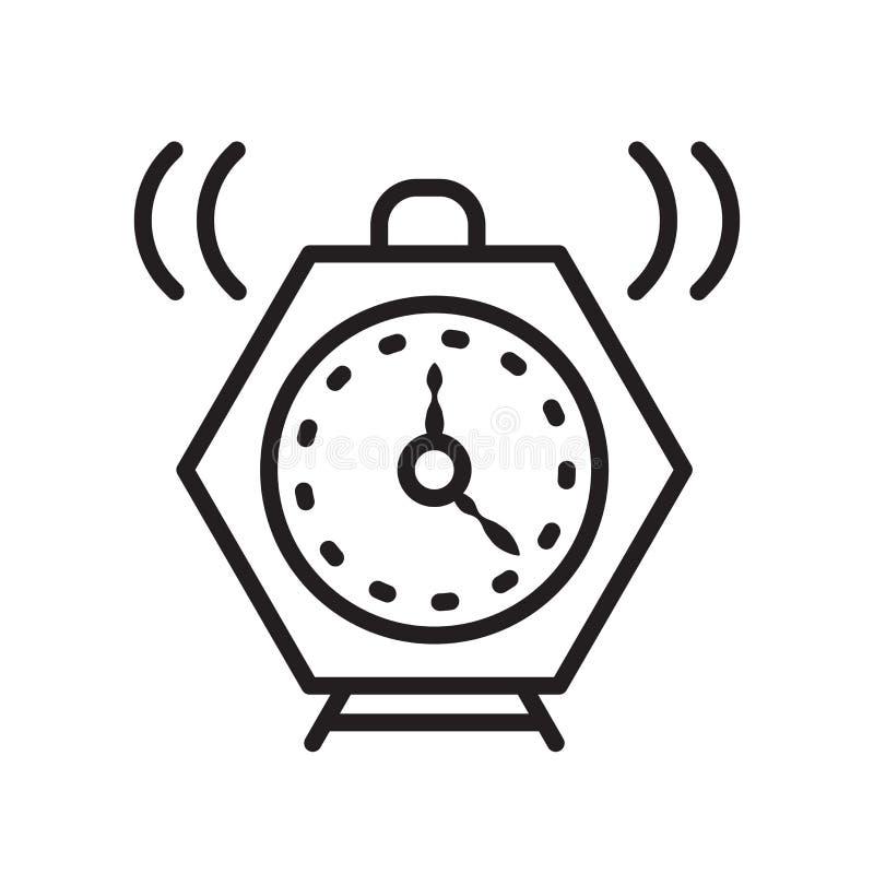 Alarmowy ikona wektor odizolowywający na białym tle, alarma znak, liniowy symbol i uderzenie projekta elementy w konturze, projek ilustracja wektor