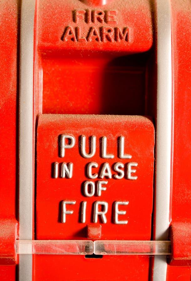 alarmowy pożarniczy ciągnienie obrazy royalty free
