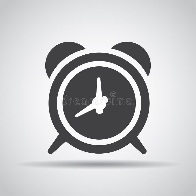 Alarmpictogram met schaduw op een grijze achtergrond Vector illustratie royalty-vrije illustratie