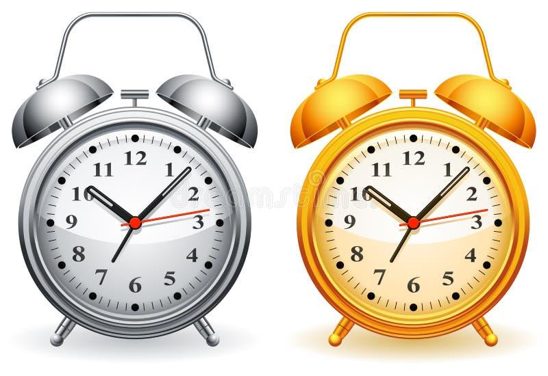 Alarmuhr. stock abbildung