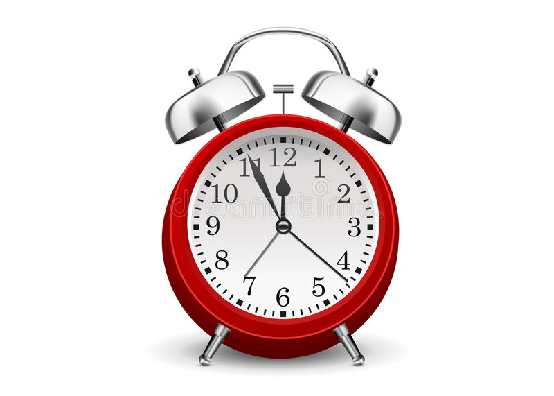 Alarmuhr stock abbildung