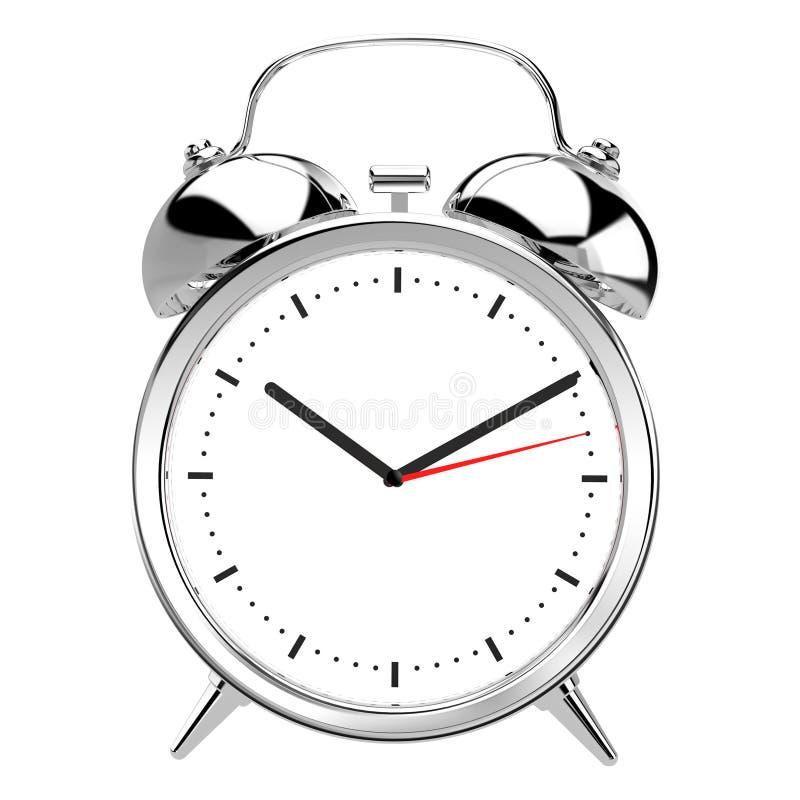 Alarmuhr auf weißem Hintergrund lizenzfreie abbildung