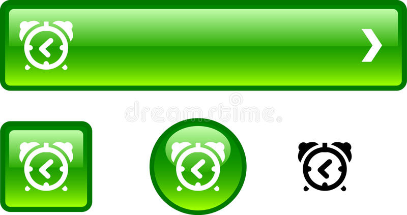 Alarmuhrtastenset. stock abbildung
