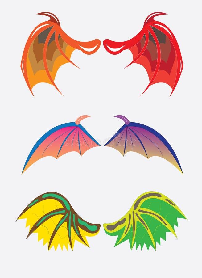 Alas de dragones ilustración del vector