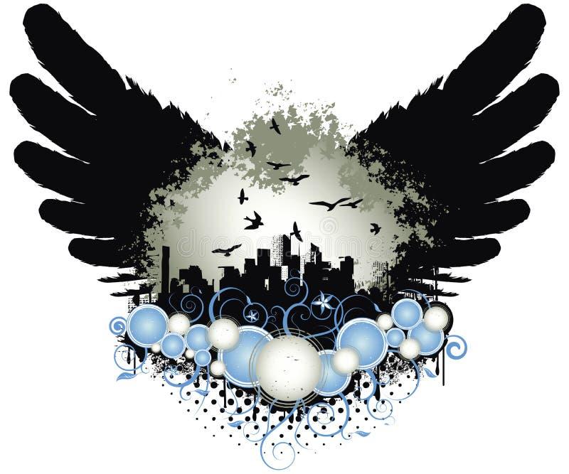 Alas de la ciudad de Grunge libre illustration
