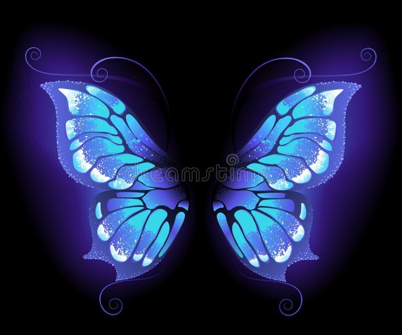 Alas de la mariposa que brillan intensamente stock de ilustración