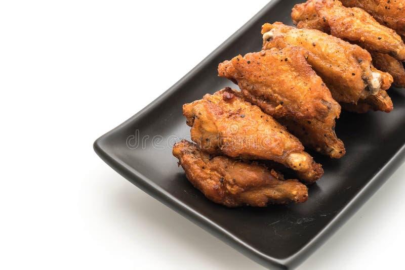 Alas de pollo frito imagen de archivo