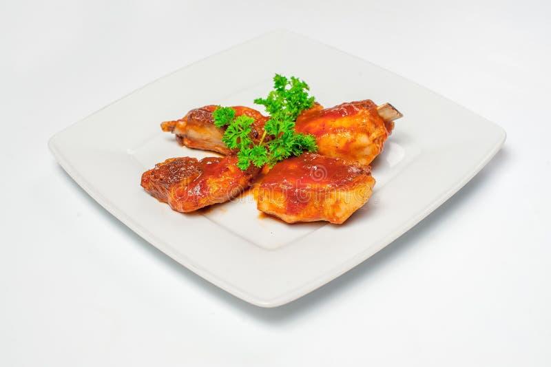 Alas de pollo frito Foto del estudio foto de archivo libre de regalías