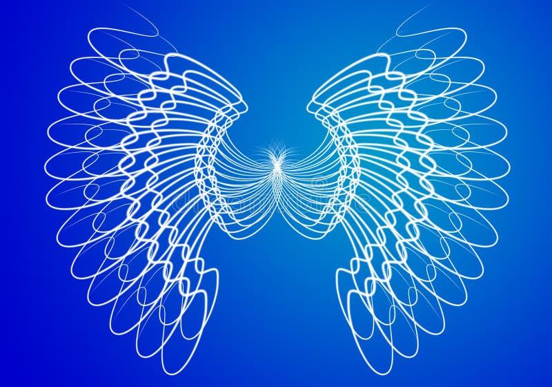Alas del ángel ilustración del vector