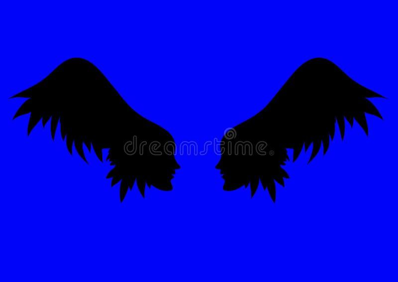 Alas del ángel del vector stock de ilustración