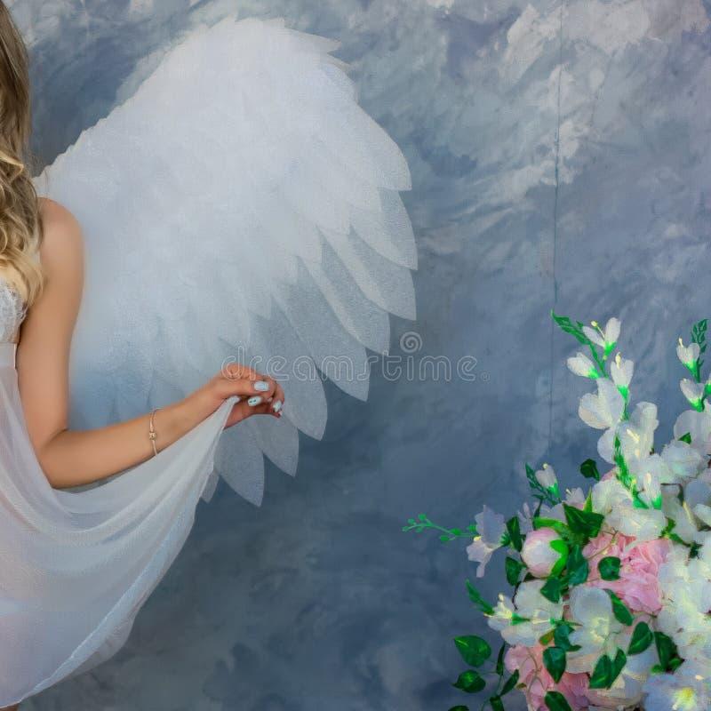 Alas del ángel - elemento del traje de las mujeres foto de archivo libre de regalías