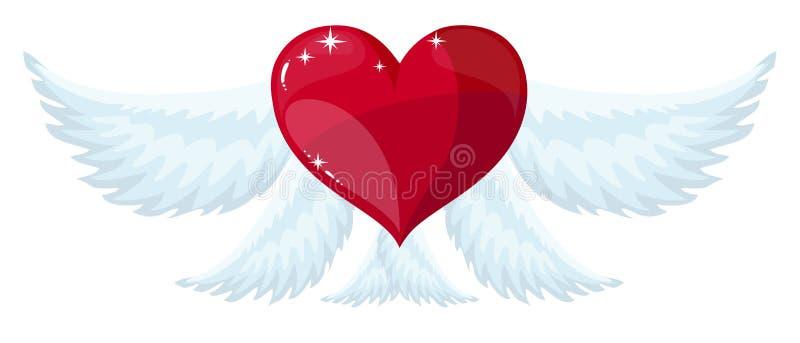 Alas del ángel sobre el fondo blanco Ilustración del vector ilustración del vector