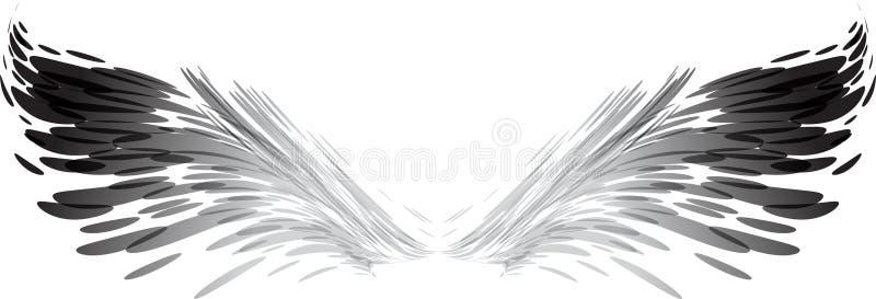 Alas del arte ilustración del vector