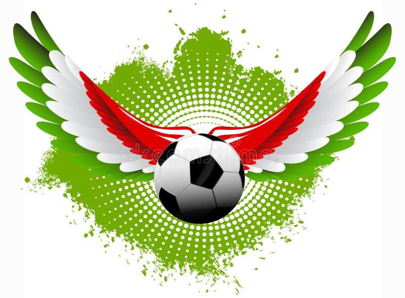 Alas del balón de fútbol de Italia stock de ilustración