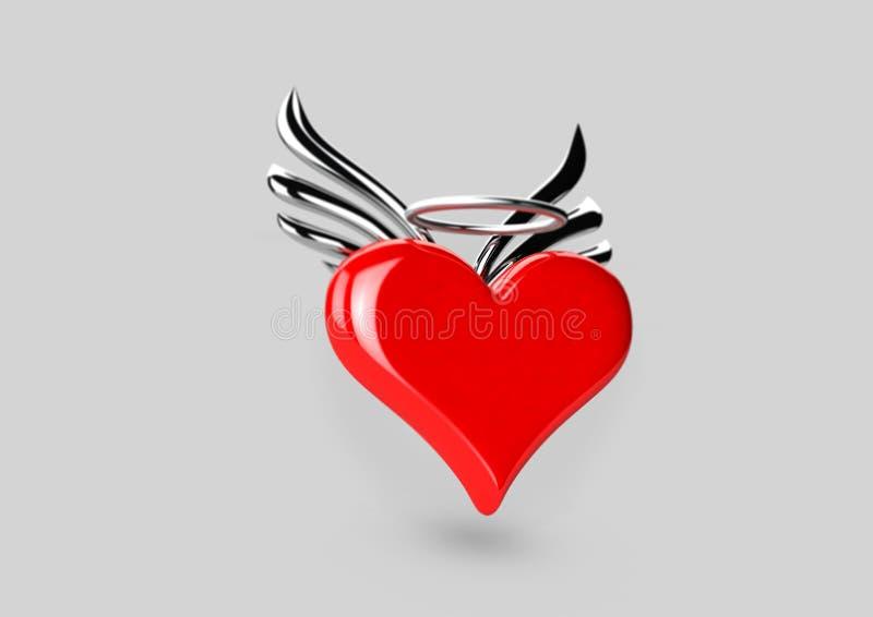 Alas del corazón n imagen de archivo libre de regalías