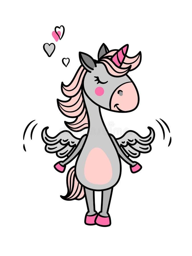 Alas del unicornio ilustración del vector