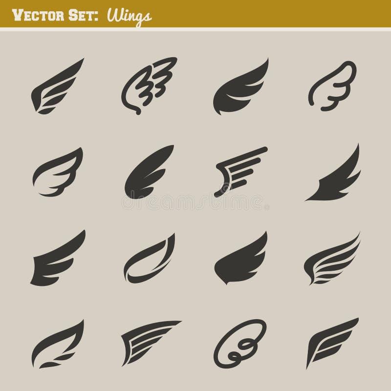 Alas. Elementos del diseño del vector ilustración del vector
