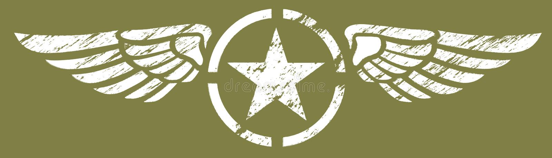 Alas militares ilustración del vector