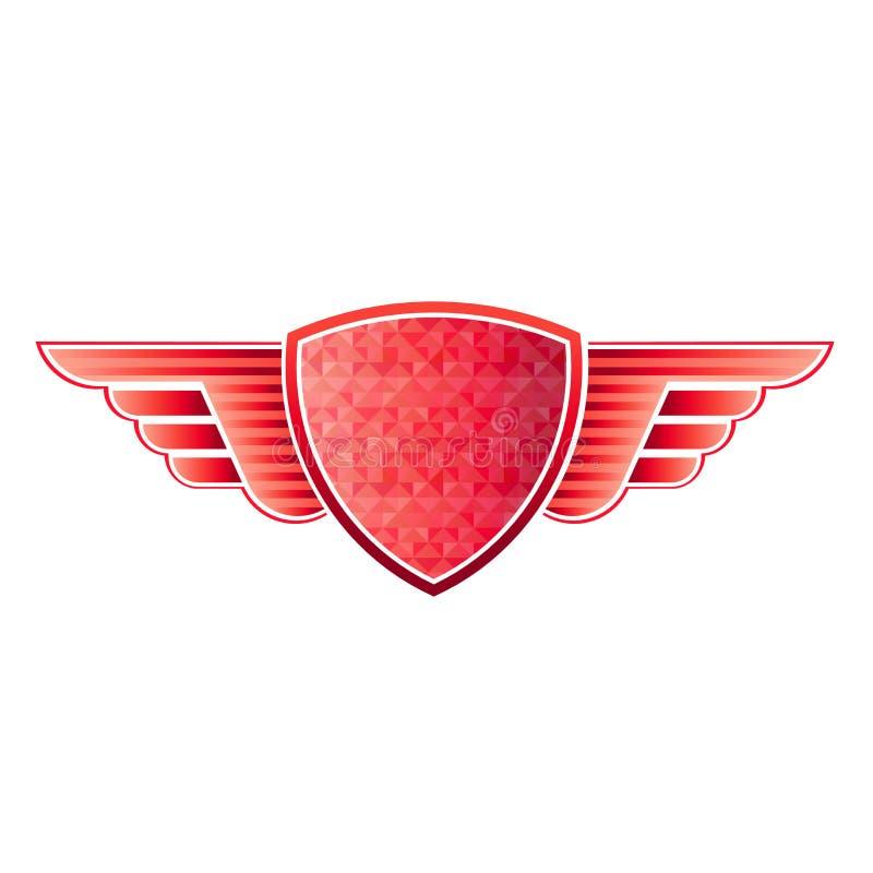 Alas rojas del blindaje ilustración del vector