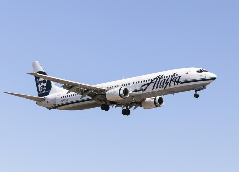 Alaska Airlines imagens de stock royalty free