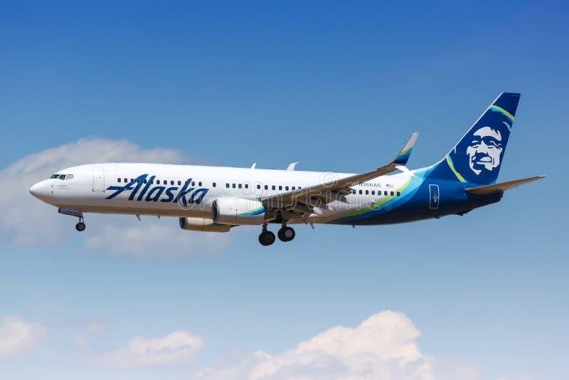 Alaska Airlines Boeing 737-800 fotografia stock