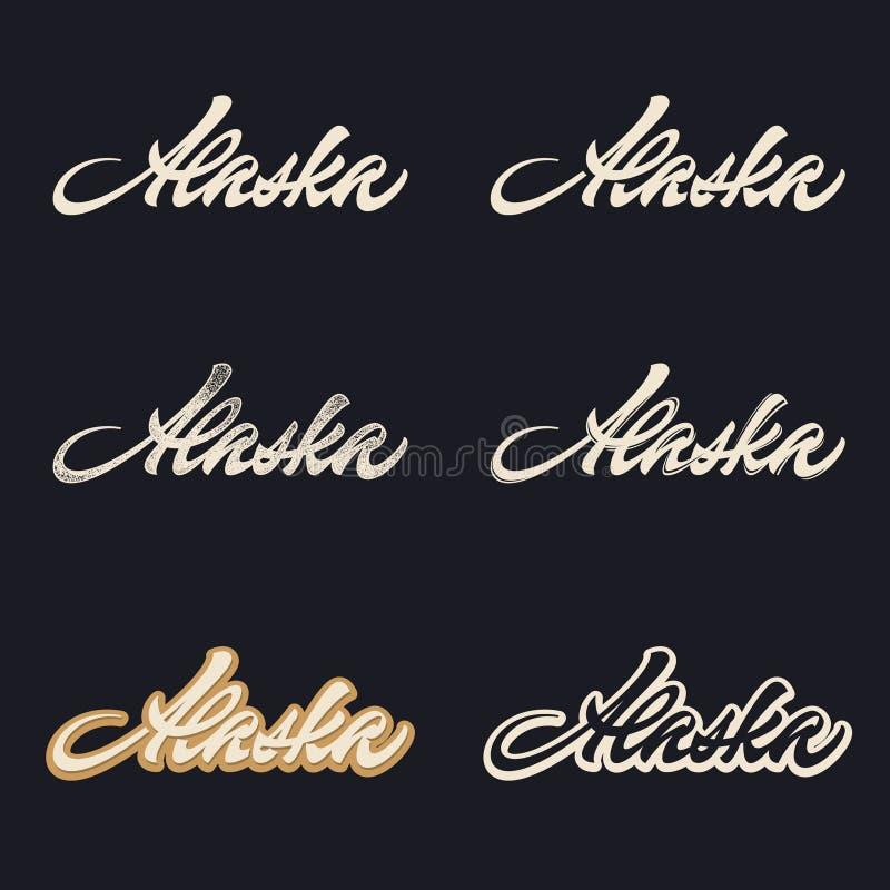 Alaska-Bürstenbeschriftung lizenzfreie abbildung