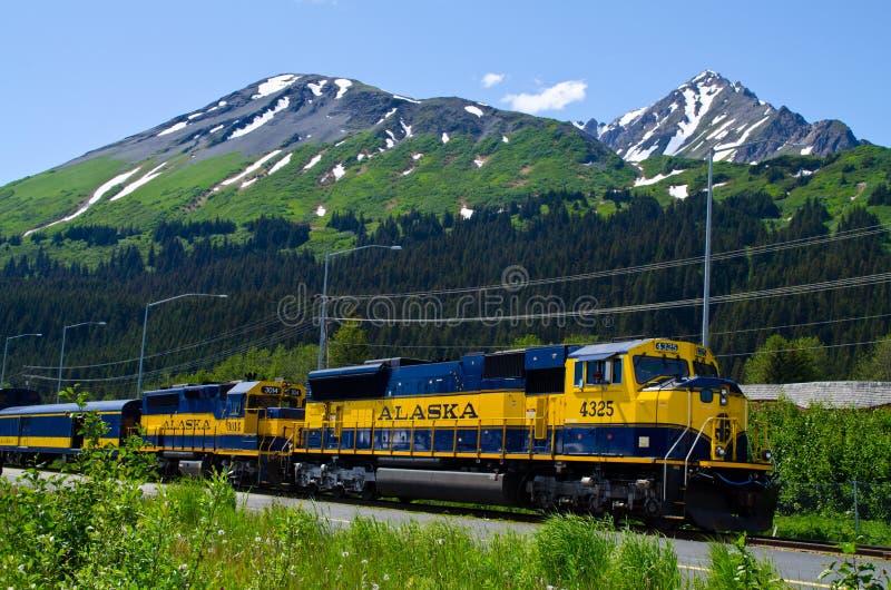 Alaska-Bahnsystem lizenzfreies stockbild