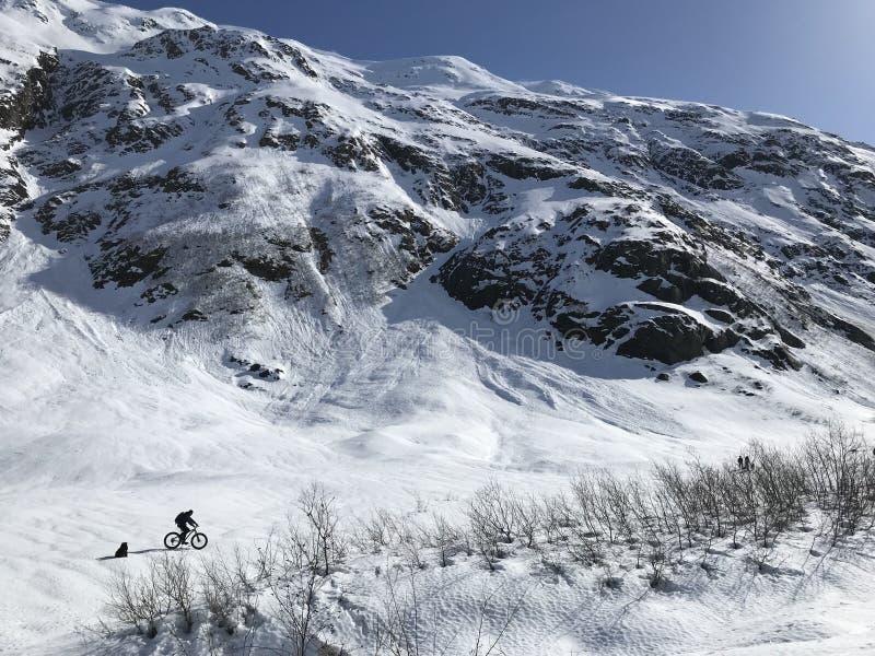 Alaska-Bergabenteuer lizenzfreie stockfotos
