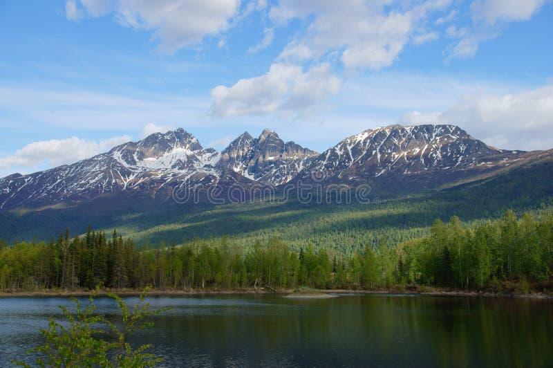 Alaska-Berge und See, Palmer Hays Flats stockbild