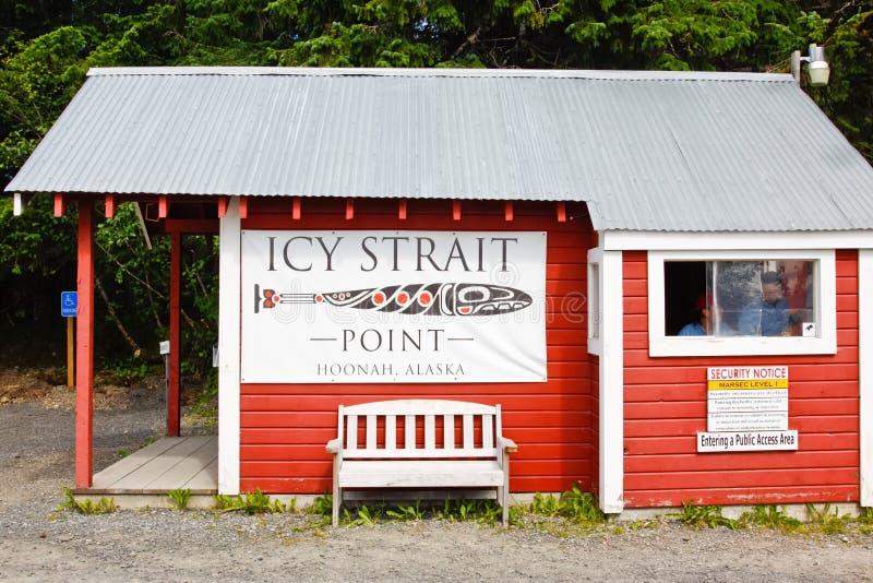 Alaska cieśniny punktu ochrony Lodowaty punkt kontrolny obrazy royalty free