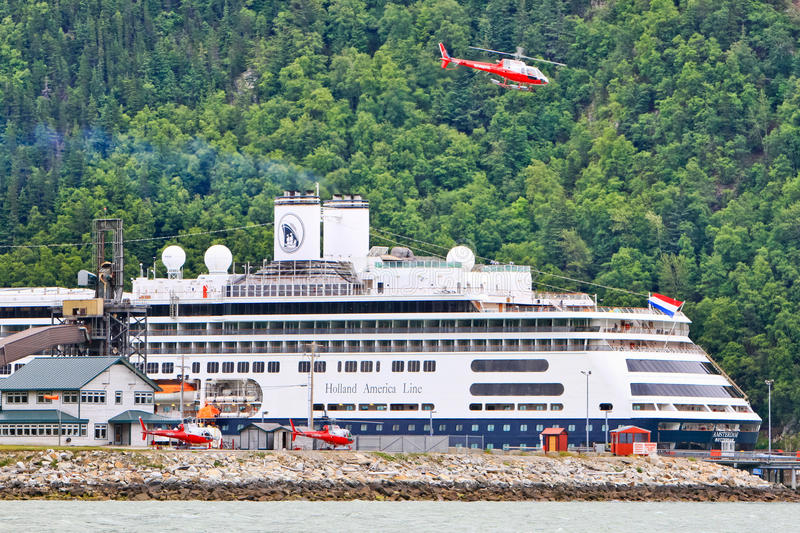 Alaska Cruise Ship Helicopter Tour royalty free stock photo