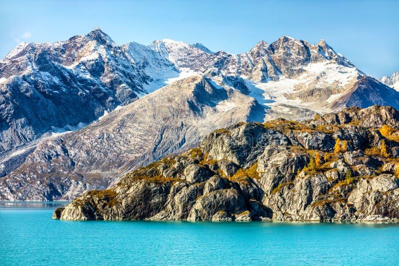 Alaska cruise travel glacier bay national park. Alaska cruise travel. Glacier Bay National Park, Alaska, USA. Nature landscape of alaska mountain peaks and royalty free stock image