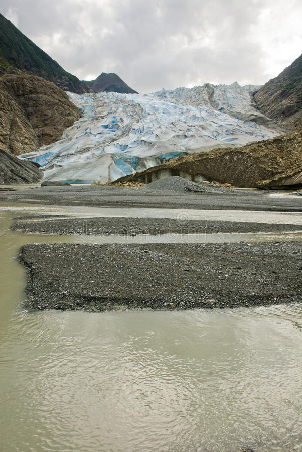 Alaska - Davidson Glacier imagen de archivo