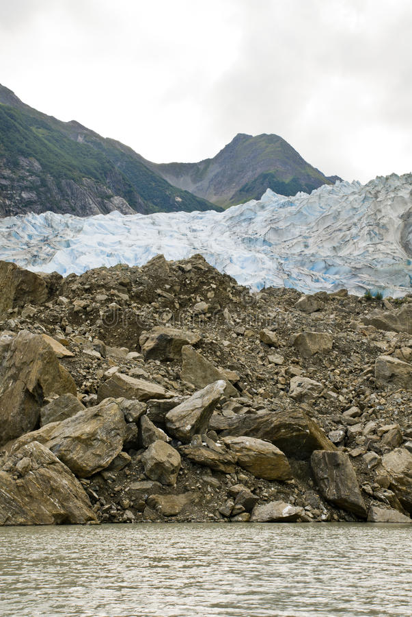 Alaska - Davidson Glacier arkivfoto