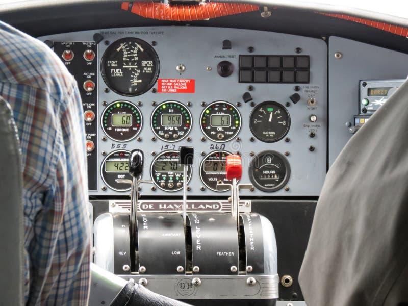 Alaska De Havilland Otter Flight Instruments royalty free stock images