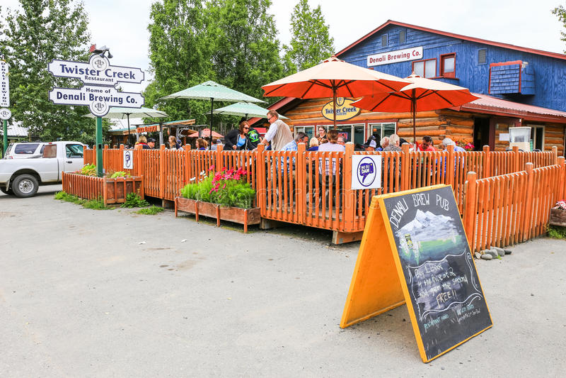 Alaska Denali Piwowarstwo Firma Talkeetna obrazy royalty free