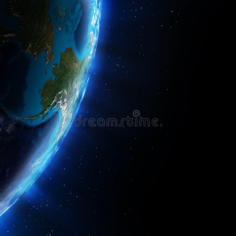 Alaska do espaço ilustração do vetor