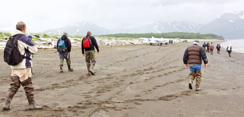 Alaska draagt bekijkend de Baai van Hallo van de Vliegtuigen van de Groep stock fotografie