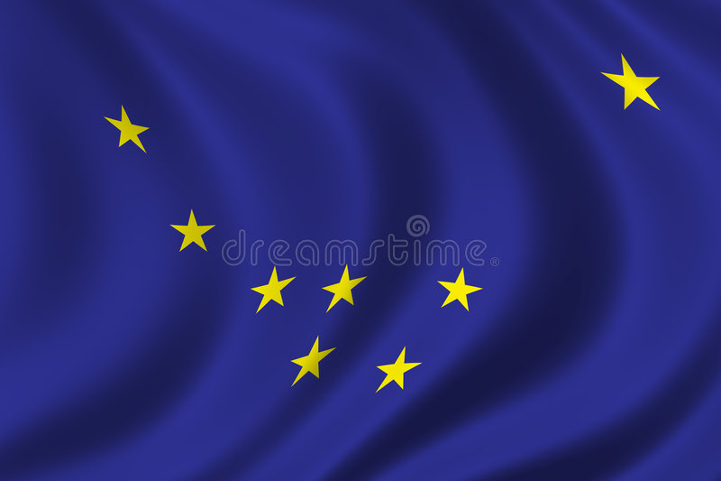 alaska flagę royalty ilustracja