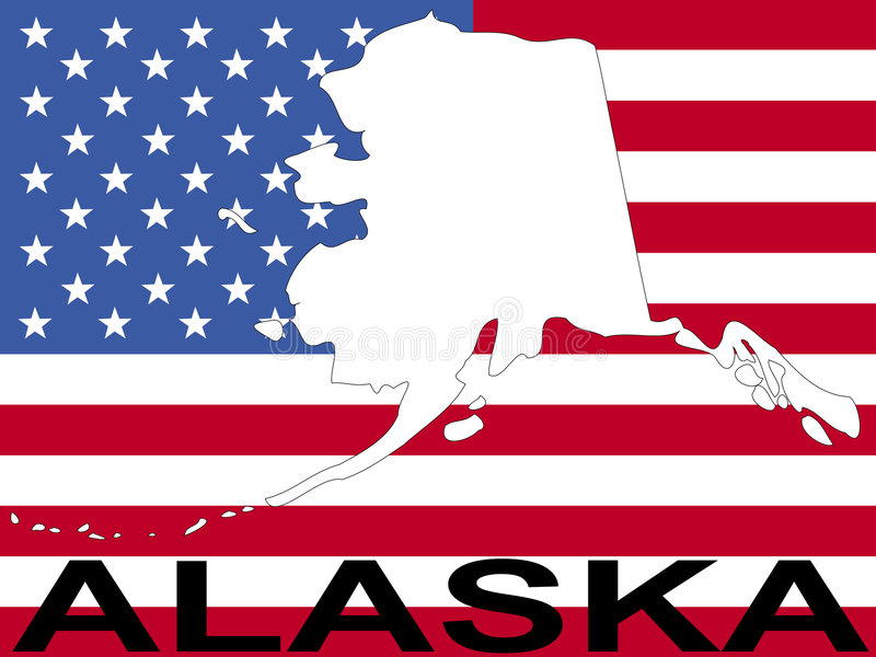 alaska flagga stock illustrationer