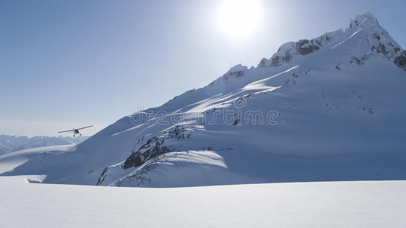 Alaska Flightseeing in Winter royalty free stock image