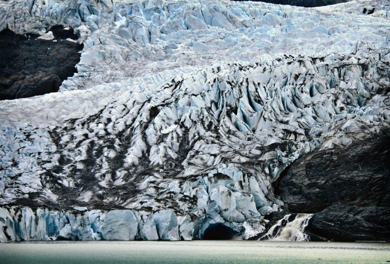 alaska glaciärmendenhall royaltyfria bilder