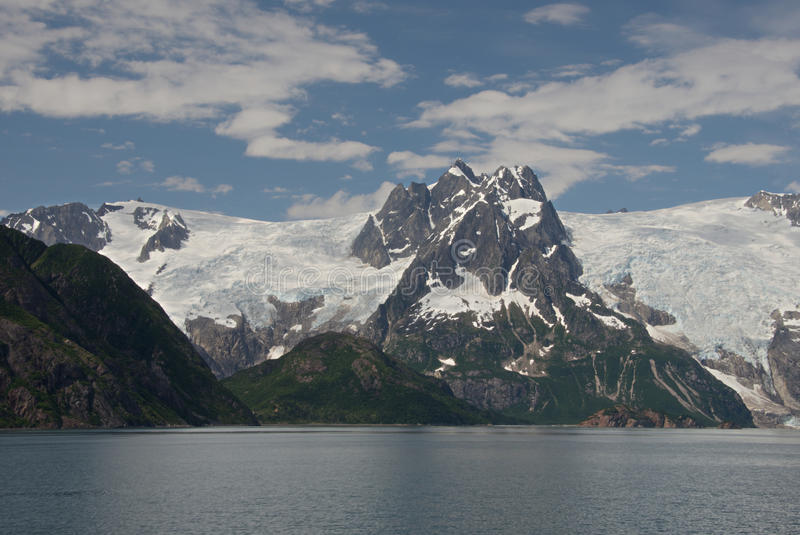 Alaska Glacier from Discovery Bay. View of glacier from Discovery Bay, Alaska royalty free stock photography