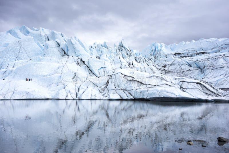 Alaska Glacier Lakes - Climbers. Interior Alaska Glacier Lakes - in the distant a group of glacier climbers royalty free stock images
