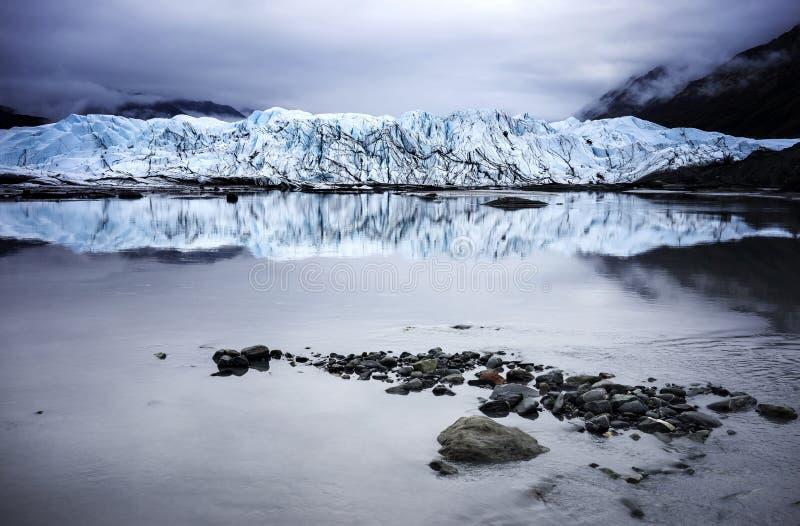 Alaska Glacier Lakes. Interior Alaska Glacier Lakes - shoreline royalty free stock images